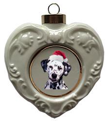 Dalmatian Heart Christmas Ornament