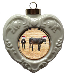 Donkey Heart Christmas Ornament