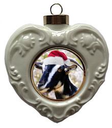 Goat Heart Christmas Ornament