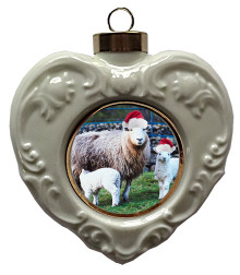 Lamb Heart Christmas Ornament