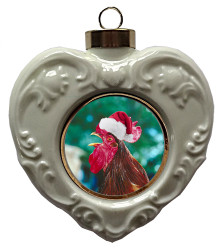 Rooster Heart Christmas Ornament