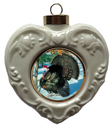 Turkey Heart Christmas Ornament