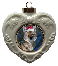 Coyote Heart Christmas Ornament