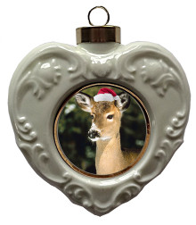 Deer Heart Christmas Ornament