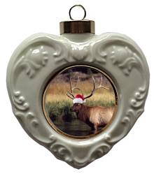 Elk Heart Christmas Ornament