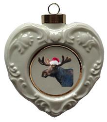 Moose Heart Christmas Ornament