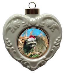 Raccoon Heart Christmas Ornament