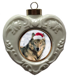 Wolf Heart Christmas Ornament