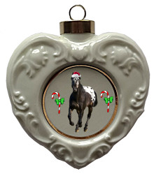 Appaloosa Heart Christmas Ornament
