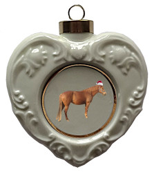 Barb Heart Christmas Ornament