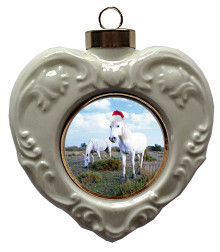 Camargue Heart Christmas Ornament