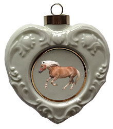 Haflinger Heart Christmas Ornament