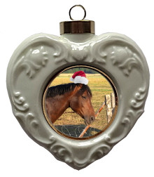 Horse Heart Christmas Ornament
