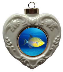 Triggerfish Heart Christmas Ornament