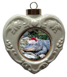 Alligator Heart Christmas Ornament
