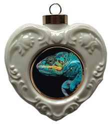 Chameleon Heart Christmas Ornament