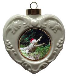 Crocodile Heart Christmas Ornament