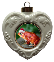 Tomato Frog Heart Christmas Ornament