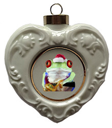 Tree Frog Heart Christmas Ornament