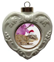 Gecko Heart Christmas Ornament