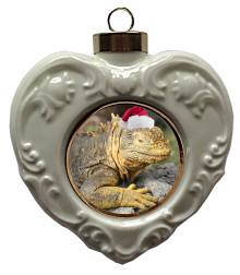 Iguana Heart Christmas Ornament