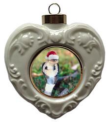 Cobra Snake Heart Christmas Ornament