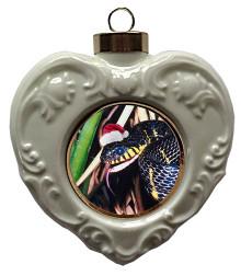 Mangrove Snake Heart Christmas Ornament