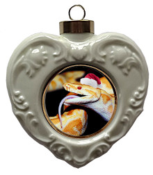 Python Snake Heart Christmas Ornament