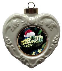 Viper Snake Heart Christmas Ornament
