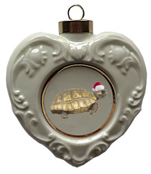 Turtle Heart Christmas Ornament