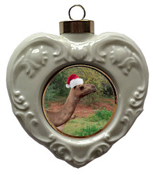 Camel Heart Christmas Ornament