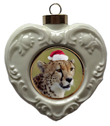 Cheetah Heart Christmas Ornament