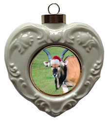 Eland Heart Christmas Ornament