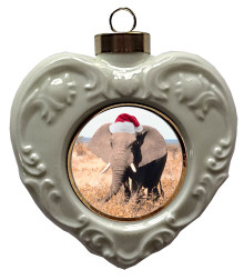 Elephant Heart Christmas Ornament