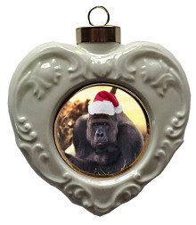 Gorilla Heart Christmas Ornament