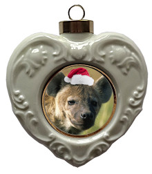 Hyena Heart Christmas Ornament