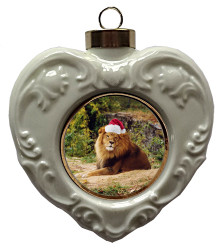 Lion Heart Christmas Ornament