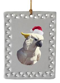 Cockatoo  Christmas Ornament
