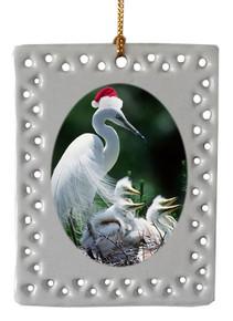 Egret  Christmas Ornament