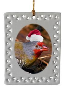 Finch  Christmas Ornament