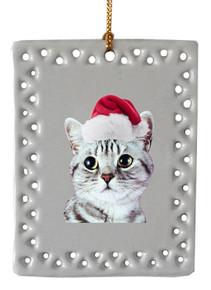 American Shorthair Cat  Christmas Ornament