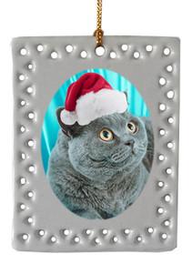 British Shorthair Cat  Christmas Ornament