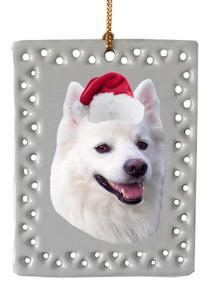 American Eskimo Dog  Christmas Ornament