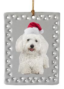 Bichon  Christmas Ornament