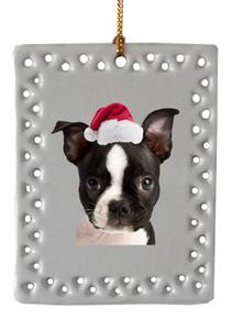 Boston Terrier  Christmas Ornament