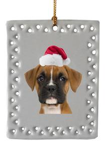 Boxer  Christmas Ornament