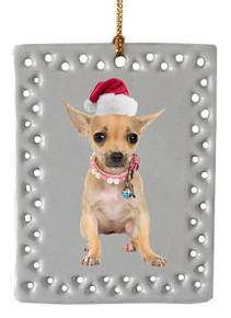 Chihuaha  Christmas Ornament