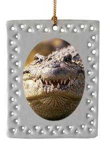 Alligator  Christmas Ornament