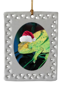 Chameleon  Christmas Ornament
