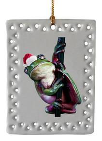 Tree Frog  Christmas Ornament
